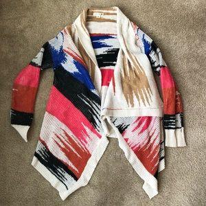 Double Zero Open Front Asymmetrical Cardigan